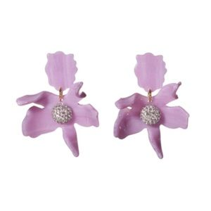 Lele sadoughi earrings (paper lily) in lilac. EUC